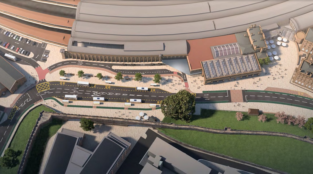 Artist's impression of new station frontage scheme